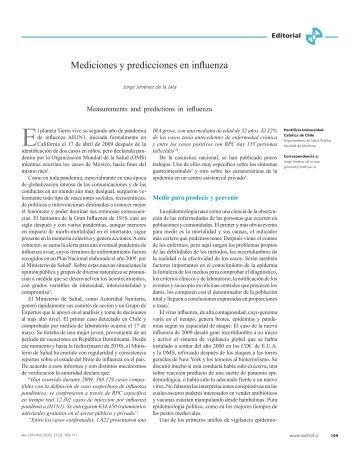 Mediciones y predicciones en influenza - SciELO