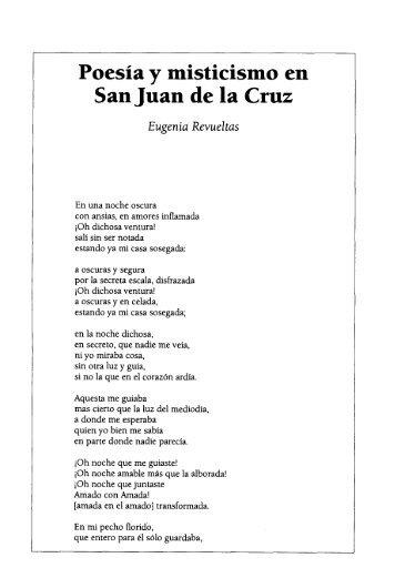 Poesía y misticismo en San Juan de la Cruz Eugenia Revuel tus