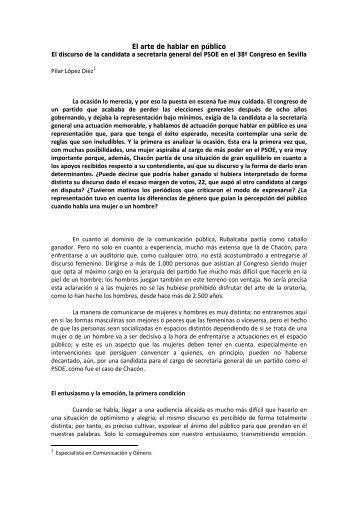 El arte de hablar en público - Pilar López Díez