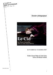 Le Cid-dossier pédagogique - Théâtre Gérard Philipe