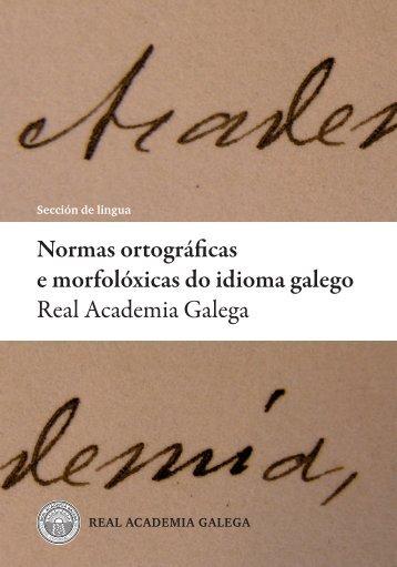 Normas ortográficas e morfolóxicas - Inicio