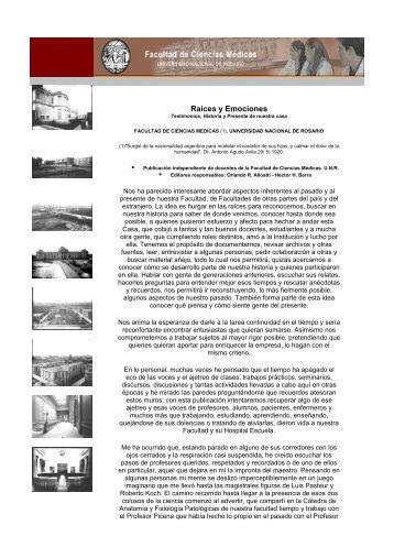 RESEA HISTRICA FCM-UNR - Facultad de Ciencias Médicas-UNR ...