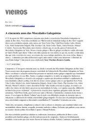 A cincuenta anos das Mocedades Galeguistas - Asociación de ...