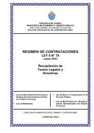 regimen de contrataciones - Organismos - Gobierno de la Provincia ...