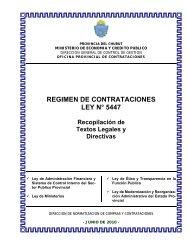 REGIMEN DE CONTRATACIONES LEY N° 5447 - Organismos