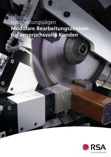 Hochleistungssägen Modulare Bearbeitungszentren ... - RSA Entgrat