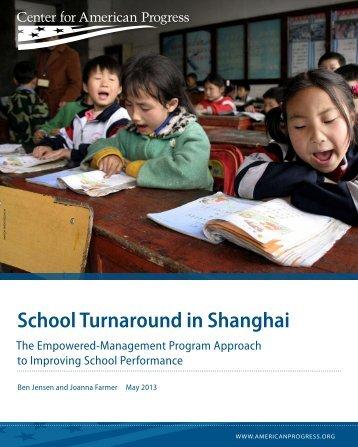 School Turnaround in Shanghai