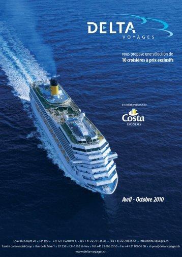 Costa Mediterranea - Delta Voyages