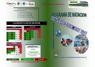 calendario clases de natación - Complejo Deportivo Peralta