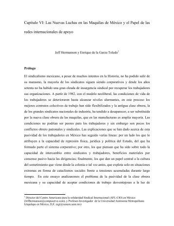 Capítulo VI: Las Nuevas Luchas en las Maquilas de México y ... - UAM