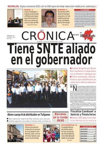 febrero 10 - La Crónica de Hoy en Hidalgo