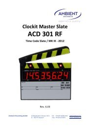 Clockit Master Slate ACD 301 RF Time Code ... - Ambient Recording