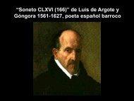 """""""Soneto CLXVI (166)"""" de Luis de Argote y Góngora 1561-1627 ..."""