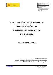 evaluación del riesgo de transmisión de leishmania infantum en ...