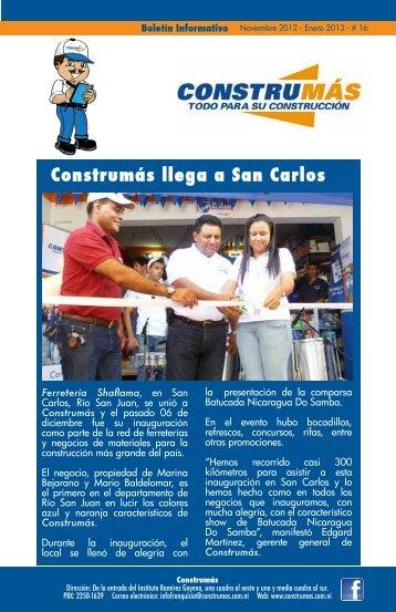 Construmás llega a San Carlos - Construmas