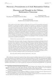 Discurso y Pensamiento en el Aula Matemática Chilena ... - SciELO