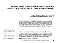 políticas públicas en la conformación del corredor urbano centro ...