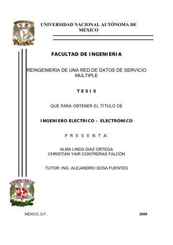 FACULTAD DE INGENIERIA REINGENIERIA DE UNA RED ... - UNAM