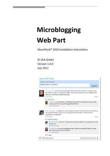 Microblogging Web Part