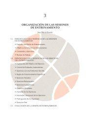 ORGANIZACIÓN DE LAS SESIONES DE ENTRENAMIENTO - Fiba