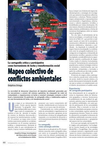 Mapeo colectivo de conflictos ambientales - ODG