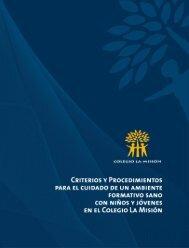Criterios y Procedimientos Ambiente Formativo - Colegio La Mision