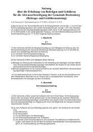 Satzung über die Erhebung von Beiträgen und ... - Amt Breitenburg
