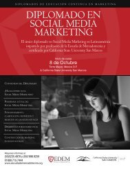 DiplomaDo en social meDia marketing - Escuela de mercadotecnia