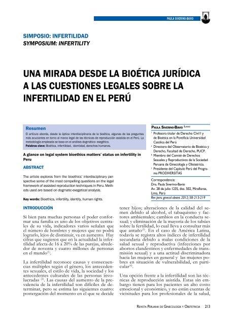 Revista Peruana De Ginecologia Y Obstetricia Scielo