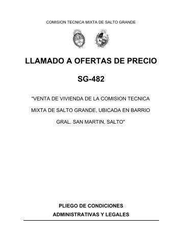 LLAMADO A OFERTAS DE PRECIO SG-482 - Salto Grande