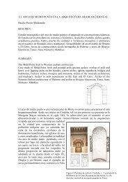 El arco de medio punto en la arquitectura islámica occidental.