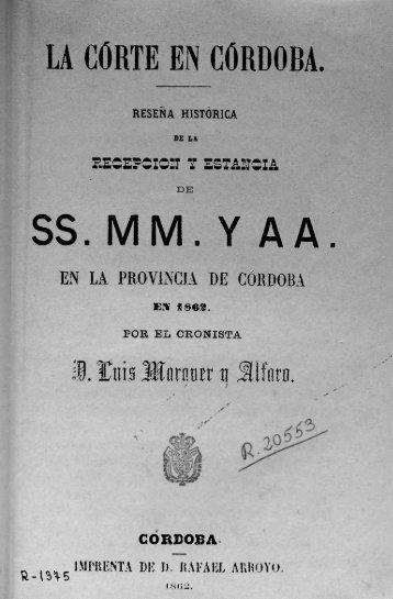 LA CORTE EN CORDOBA. S S . M M . Y A A - Red municipal de ...
