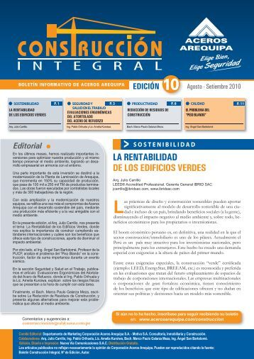 descarga aquí tu boletín edición n°10 - Corporación Aceros Arequipa