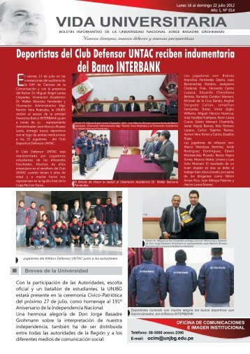 BOLETIN 18 DE JULIO PAGINA WEB - Universidad Nacional Jorge ...