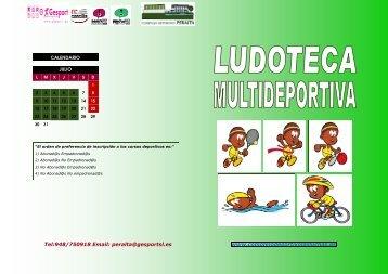 Folleto ludoteca multideportiv - Complejo Deportivo Peralta
