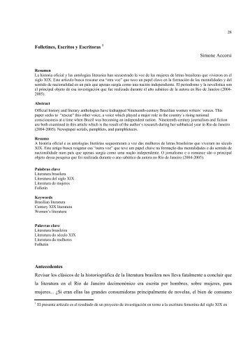 Folletines, escritos y escritoras Simone Accorsi - Revista literaria ...