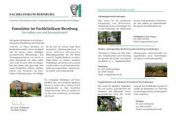 Famulatur im Fachklinikum Bernburg