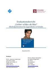 """Evaluationsbericht """"Lieber schlau als blau"""" - salus kliniken GmbH"""