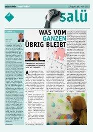 WAS VOM GANZEN ÜBRIG BLEIBT - salus kliniken GmbH