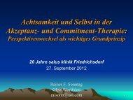 und Commitment-Therapie - salus kliniken GmbH