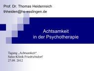Achtsamkeit in der Psychotherapie - salus kliniken GmbH