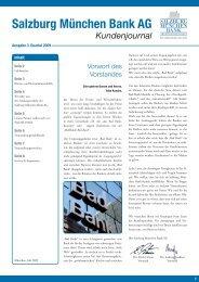 Salzburg München Bank AG Kundenjournal - Raiffeisen Salzburg