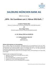 Vorankündigung - Salzburg München Bank AG