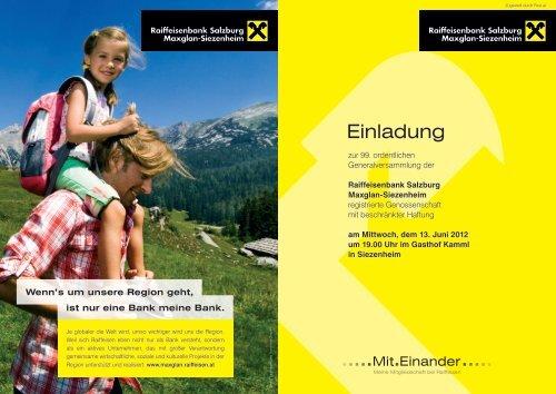Einladung - Raiffeisen Salzburg
