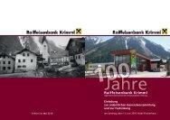 Raiffeisenbank Krimml - Raiffeisen Salzburg