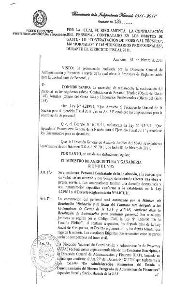 Acta n 101 ministerio de ganader a agricultura y pesca for Ministerio de ganaderia