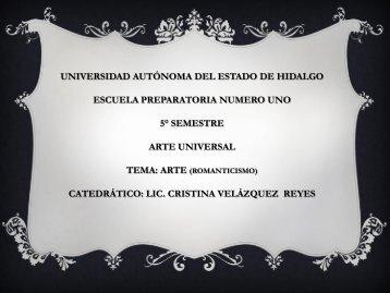 arte universal - Universidad Autónoma del Estado de Hidalgo
