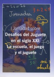 I Jornadas sobre Desafíos del Juguete en el siglo XXI: La escuela ...