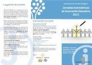 Jornadas Autonómicas de Innovación Educativa - Escuelas Católicas