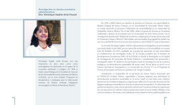 Dra. Véronique Sophie Avila Foucat - dgapa unam - Universidad ...